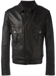 Maison Martin Margiela Replica James Dean Leather Jacket Black