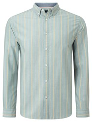 John Lewis Preppy Stripe Oxford Shirt Green