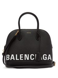 Balenciaga Ville Top Handle M Bag Black White