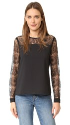Cooper And Ella Pasha Lace Top Black