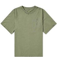 Unravel Project Destroyed Skate Tee Green
