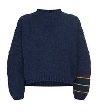 J.W.Anderson Chunky Cotton Mouline Jumper Male Navy
