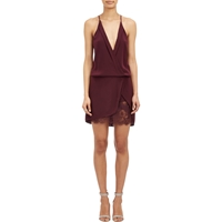 Mason By Michelle Mason Mini Wrap Dress Wine