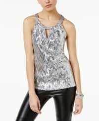 Inc International Concepts Sequin Halter Top Only At Macy's Silver