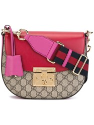 Gucci Padlock Saddle Shoulder Bag Brown