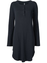 Raquel Allegra Button Down Collar Dress Blue