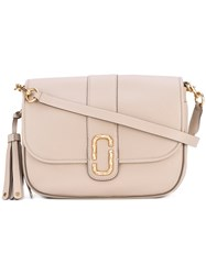 Marc Jacobs Interlock Courier Bag Women Cotton Calf Leather One Size Nude Neutrals