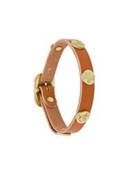Il Bisonte Studded Bracelet Brown