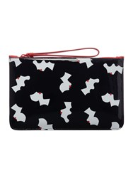 Lulu Guinness Kissing Cameo Top Zip Pouch Black