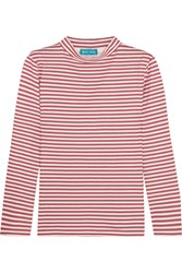 Mih Jeans M.I.H Emelie Striped Cotton Jersey Top Red