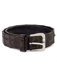 Scunzani Ivo Crocodile Leather Belt Green
