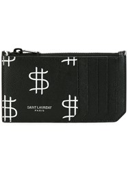 Saint Laurent Classic Paris 5 Fragments Zip Pouch Black
