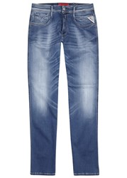 Replay Anbass Hyperflex Slim Leg Jeans Blue