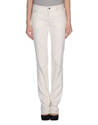 Galliano Denim Pants White
