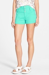 Fire High Waist Shorts Juniors Green