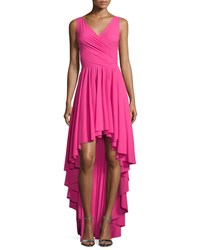 La Petite Robe Di Chiara Boni Sidney Sleeveless Ruffled High Low Dress Glossy Pink Size 2