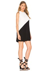 Bishop Young Colorblock Dress Black And White