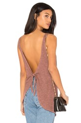 Lanston Tie Back Tank Red