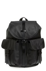 Herschel Supply Co. 'Dawson' Backpack Black Black Veggie Tan Leather
