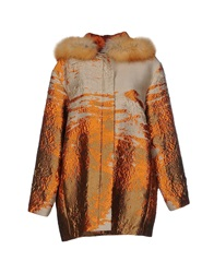 Alberta Ferretti Coats Orange