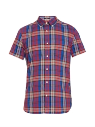 Woolrich Madras Short Sleeved Cotton Shirt