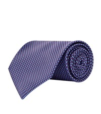 Stefano Ricci Mini Geometric Poppies Tie Unisex Purple