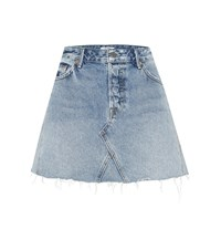Grlfrnd The Eva Denim Miniskirt Blue
