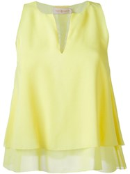 Tory Burch 'Alexandra' Draped Sleeveless Tank Yellow And Orange