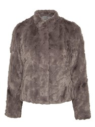 Gerry Weber Faux Fur Jacket Dark Taupe