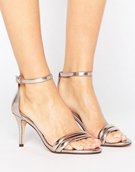 Head Over Heels By Dune Mimosa Rose Gold Heeled Sandals Rose Gold