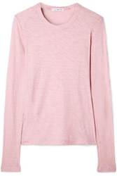 James Perse Slub Supima Cotton Jersey Top Baby Pink