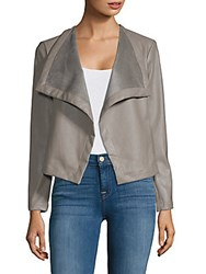 Saks Fifth Avenue Peppin Open Front Jacket Dove Grey
