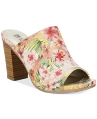 White Mountain Datenight Slide Mules Women's Shoes Hawaian Floral