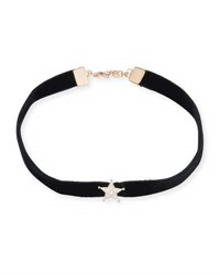 Kismet By Milka Velvet Choker Necklace With Diamond Star Station