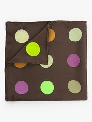 Fraas Polka Dot Planet Square Silk Scarf Red Multi