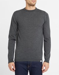 Norse Projects Grey Lauge Merino Sweater