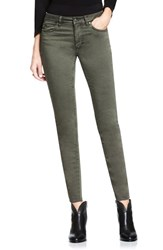 Vince Camuto Women's Two By Colored Five Pocket Skinny Jeans Olive Earth