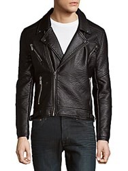 Eleven Paris Full Zip Moto Jacket Black