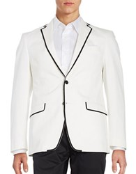 Tallia Orange Piped Sport Coat White