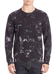Splendid Mills Watercolor Printed Raglan Sleeve Pullover Black