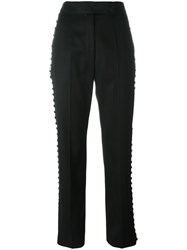 Yves Saint Laurent Vintage Military Style Trousers Black