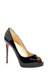 Women's Christian Louboutin 'Prive' Open Toe Pump Black