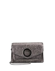 Halston Metallic Leather Crossbody Gunmetal