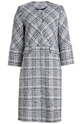 Rosetta Getty Cropped Sleeve Coat With Cotton And Virgin Wool Multicolored