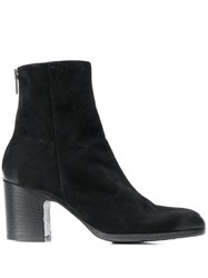 Pantanetti Block Heel Ankle Boots Black