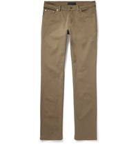 Etro Stretch Cotton Twill Trousers Green