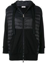 Moncler Padded Front Hoodie Black