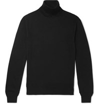 Tom Ford Cashmere And Silk Blend Rollneck Sweater Black