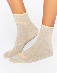 Puma 2 Pack Short Socks Off White