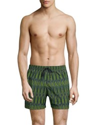 Danward Printed Swim Shorts Slate